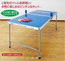 折りたたみ式 卓球台 家庭用 ファミリーピンポン台 卓球セット 卓球台 ネット付属 卓球ラケット ピンポン玉