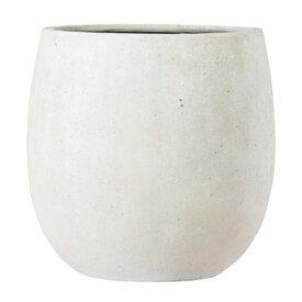 植木鉢 ファイバー製 おしゃれ 軽量 テラニアス 55cm バルーン アンティークホワイト 大型