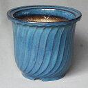信楽焼 陶器製植木鉢 ストライプ大深 シナ生子 7号 2個入り /アウトレット数量限定品
