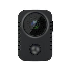 小型カメラ 小型防犯カメラ 小型PIRカメラ 人感センサー ワンクリック PIR人感センサー 暗視機能 Full HD 1080p 録画 夜間撮影 長時間録画 赤外線 動体検知 簡単操作 小型カメラ 配線不要 屋内用 車内用 防犯グッズ クリップ式 ブラック 送料無料