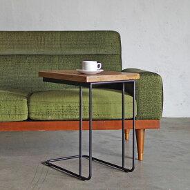 サイドテーブル 木製 無垢材【U IRON SIDE TABLE NATURAL BR】