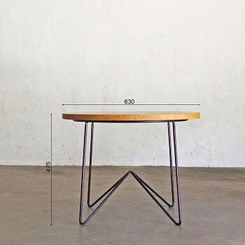 ローテーブル無垢材センターテーブルコーヒーテーブルインダストリアル家具アイアン丸