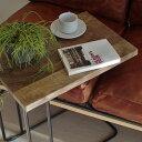 サイドテーブル 木製 無垢材【U IRON SIDE TABLE NT】