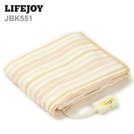 【送料無料】 LIFEJOY 電気毛布 洗える 日本製 セミダブル 188cm×130cm 掛け敷き兼用 ダニ退治機能 オレンジ JBK551