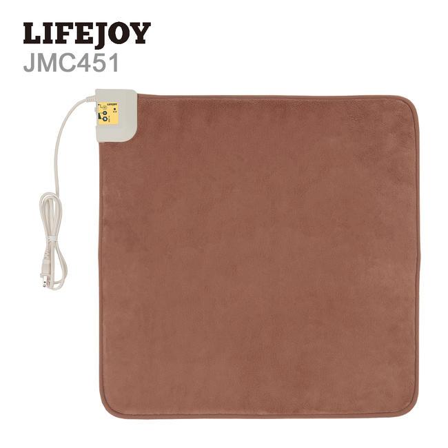 【送料無料】 LIFEJOY ホットマット 日本製 45cm×45cm 電気マット 一人用 ふかふか 強弱切替 椅子 座椅子 オフィス ブラウン JMC451