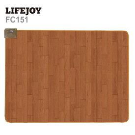 【楽天スーパーSALE】【送料無料】 LIFEJOY 木目調 防水 電気カーペット 1.5畳 128×176cm ホットカーペット ブラウン FC151
