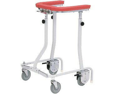 四輪歩行器 折りたたみ式歩行車 抵抗器付(在宅タイプ・グリップなし シルバー)TY157B-SL 日進医療器 (介護用品 歩行器 介護 高齢者 歩行器 シルバー)