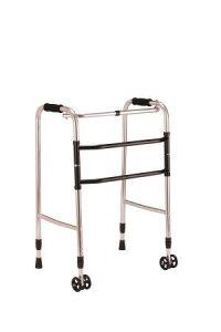歩行器 介護用 交互歩行器AL-100A 折り畳み型 クリスタル産業(介護用品 歩行器 介護 高齢者 歩行器 シルバー)