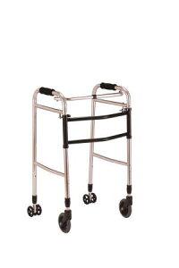交互歩行器AL-102折り畳み型 クリスタル産業(介護用品 歩行器 介護 高齢者 歩行器 シルバー)