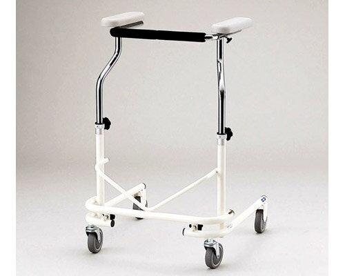 歩行器 介護 折りたたみ式歩行器 NW-21A(後輪固定) 日進医療器 四輪歩行器(介護用品 歩行器 介護 高齢者 歩行器 シルバー)