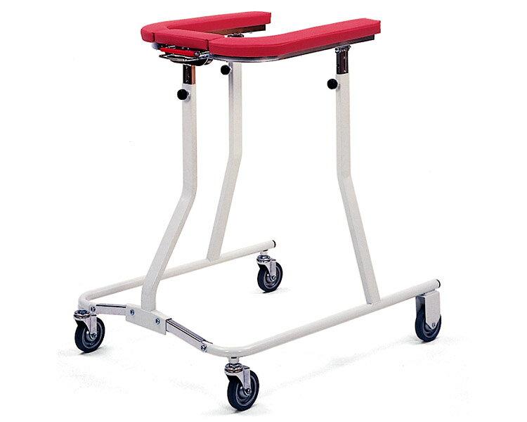 折りたたみ式歩行車(四輪歩行器) TY157 日進医療器 四輪歩行器(介護用品 歩行器 介護 高齢者 歩行器 シルバー)