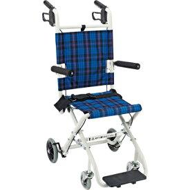 車椅子 軽量 折り畳み コンパクト簡易車いす のっぴープラス NP-001NC マキライフテック (車椅子 車いす 車イス)