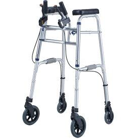 セーフティーアームUXタイプウォーカーハイ SAUXH イーストアイ(介護用品 歩行器 介護 高齢者 歩行器 シルバー 四輪歩行器)