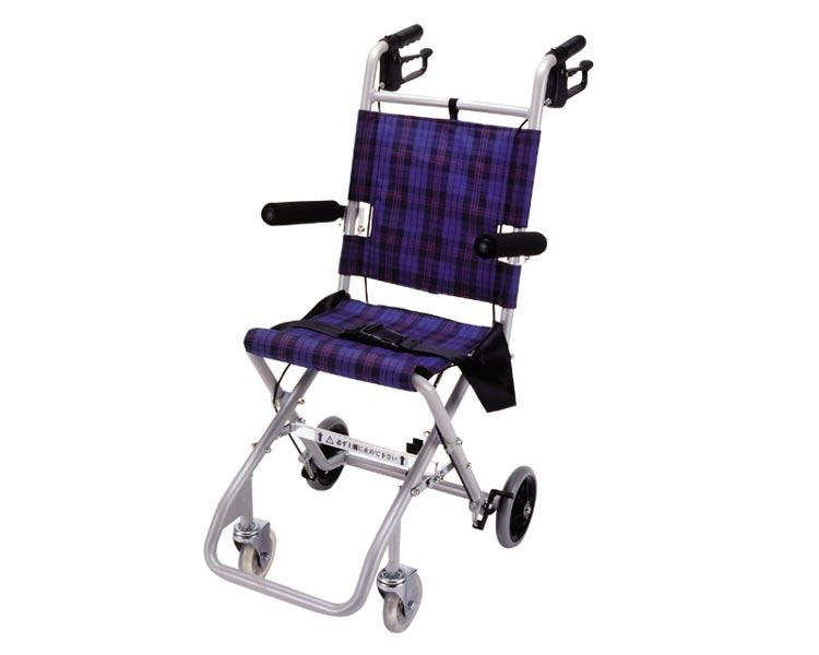 車椅子 軽量 折り畳み コンパクト簡易車いす のっぴー NP-001 マキライフテック (車椅子 車いす 車イス)