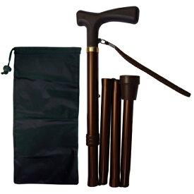 介護 杖 折りたたみ杖 アルミ製軽量ステッキ ひも付 MK 64-1 島製作所 杖 折りたたみ 軽量 杖 ステッキ 介護用品