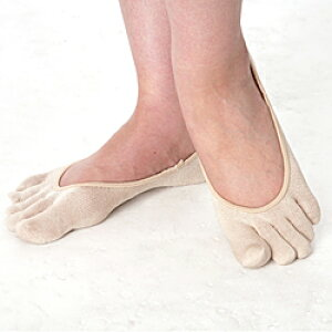 パンプス ソックス シルク婦人5本指パンプスinSY302 神戸生絲 パンプスイン 5本指ソックス フットカバー 5本指 シルク 靴下 ソックス