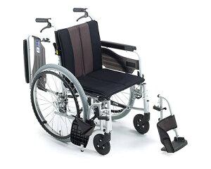 車椅子 軽量 アルミ自走式車椅子 ウイングスイングMPWSW-43JDF HG ミキ(車椅子 車いす 車イス)