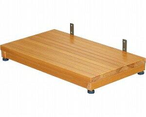 玄関台 木製ステップ台 高さ8〜10cm TST-04A ブラウン  矢埼化工 踏み台 木製