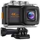 4K画質 アクションカメラ EIS(手ぶれ補正) バッテリー2個 手ぶれ補正 SONY/IMX179sensor搭載 リモコン付き 外付けマイク付き スマホ連…