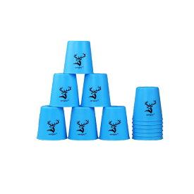 スポーツスタッキング専用カップ 12点セット スピードスタックス 競技用 知育おもちゃ FlyinCup 12個セット ブルー LP-FLCUP12S 送料無料 キャッシュレス 還元