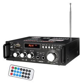 デジタルアンプ 最大出力600W(300W+300W) 高音質 重低音調整 USB SD Blutooth2.0 HiFi マイク対応 リモコン付き 12V-5Aアダプタ LP-LP298A キャッシュレス 還元