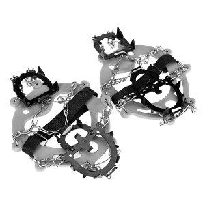 雪道用12本爪アイゼン Lサイズ(24.5〜27.5cm) 一足セット 簡易アイゼン 12本歯スパイク かんじき 収納袋付 LP-SDKCP12 送料無料