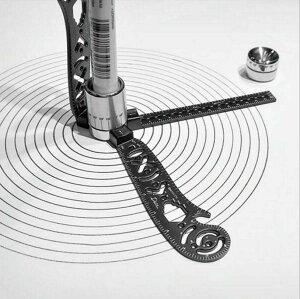 多機能ドローイングツール 曲線 定規 カーブルーラー 図形テンプレート 模様描き 万能器具 栓抜き マルチ機能金属定規 スケール マグネッ LP-MAG17CM 送料無料