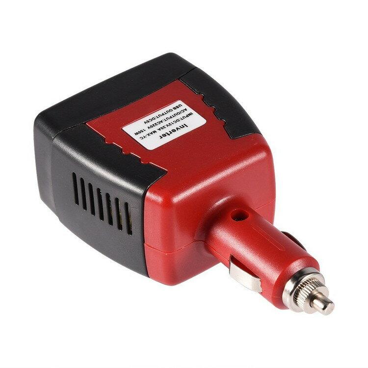 超小型 カーインバーター DC12VをAC110Vに変換 150W シガーソケット 携帯、パソコン充電器 アウトドアドア電気製品給電など 保護機能 12V車専用 送料無料 LP-CAR12C100