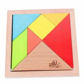 木製パズル 立体パズル 組み合わせ 木のおもちゃ 知育玩具 教育 脳トレ シルエットパズル 木のぬくもり カラフル木製パズル 立体パズル ブロック 7ピース PZU7M キャッシュレス 還元