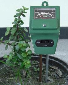 土壌phメーター 土壌の酸度を簡単測定 湿度計 酸度計 光量計 ガーデニングや農業用に 簡易ph値測定器 LST-PH31