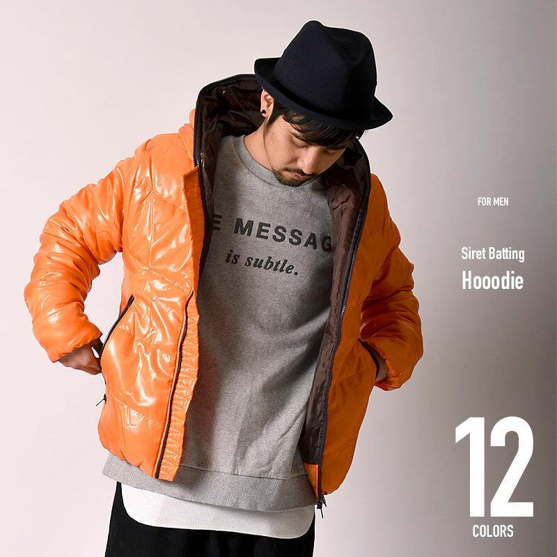シレー 中綿 フードジャケット 213012s / メンズ ブルゾン ジャンパー キングサイズ 大きいサイズ ダウン ダウンジャケット