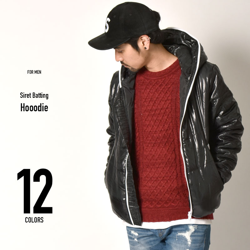 シレー 中綿ジャケット フードジャケット メンズ ブルゾン ジャンパー キングサイズ ダウン ダウンジャケット M L LL XL 大きいサイズ