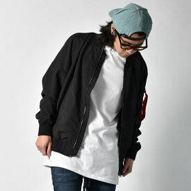 MA-1 メンズ ミリタリー ジャケット フライトジャケット MA1 エムエーワン 中綿 薄綿 ジャケット ポリピーチ M L LL XL ブラック ベージュ カーキ ネイビー 黒 茶 緑 紺 大きいサイズ あす楽対応