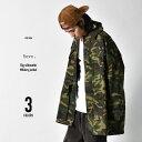 ミリタリージャケット ファティーグジャケット メンズ ビッグシルエット ミリタリー ジャケット ブラック オリーブ グリーン カーキ カモ カモフラ 黒 緑 迷彩 M L 大きいサイズ th-2658