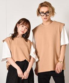 セール SALE アンサンブルベスト Tシャツ/ベスト 2枚1組セット
