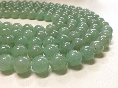 天然石 卸 グリーンアベンチュリン ラウンド12mm 1連売り