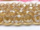 【天然石】ゴールドオーラ 64面カット 12mm  1連売り【パワーストーン】