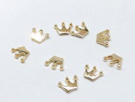 王冠 クラウン レジン チャームパーツ 10個入り cha-0478