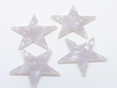シェル柄 アクリルチャーム 星型 2個入り cha-0831