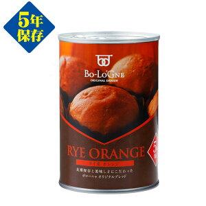 備蓄deボローニャ ライ麦オレンジ ブリオッシュパン パンの缶詰 5年保存非常食、保存食、防災グッズ