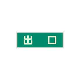 蓄光性標識 出口 両面テープ2本付 ユニット 829-57避難 誘導標識 消防 防災 事務所 学校 マンション 病院