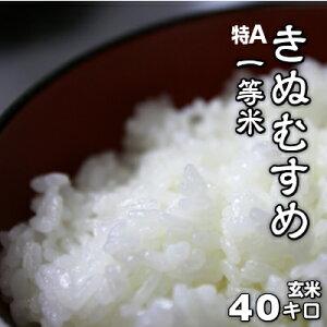 【玄米】きぬむすめ 100% 一等米 40kg 令和元年産 単一原料米 岡山県産 減農薬 有機栽培にこだわり、農家直送 玄米40キロでお届けします。