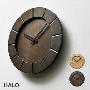 掛け時計HALOハロdesignedbyMIKIYAKOBAYASHI送料無料レムノスタカタレムノス高級感プレゼント新築祝い青銅無垢重厚感鋳造技術高岡銅器