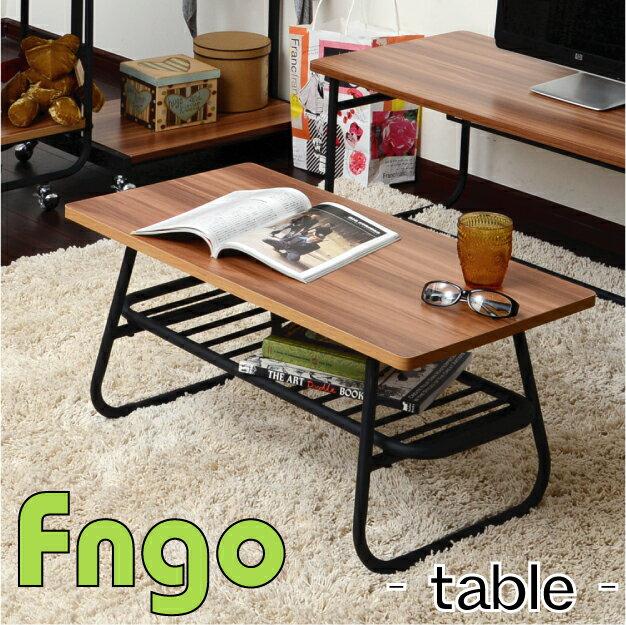 Fngo(ファンゴ) テーブルセンターテーブル リビングテーブル ローテーブル アイアン パイプ デスク 収納 北欧 モダン ナチュラル 机 ミッドセンチュリー レトロ シンプル メラミン 木製