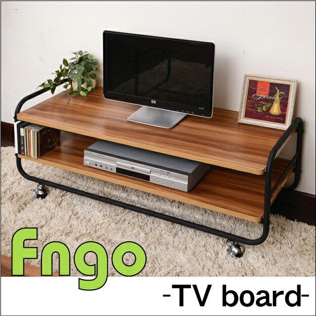Fngo(ファンゴ) テレビ台 幅105cmオープンラック センターテーブル ローボード アイアン パイプ 収納 北欧 モダン ナチュラル レトロ シンプル メラミン 木製