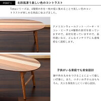 折りたたみオーバルテーブル幅100cmTetra