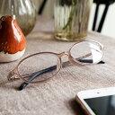度数0.5から 5色 オーバル ブルーライトカット 35% おしゃれ 35歳からのスマホ老眼鏡 軽量 アイウェアエア 老眼鏡 レ…