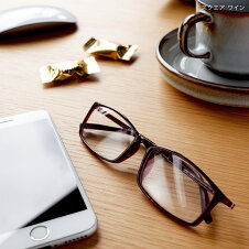 老眼鏡女性男性おしゃれ老眼鏡に見えない35歳からのスマホ老眼鏡スクエアリーディンググラスブルーライトカット軽量スマホ老眼「アイウェアエアスクエア4色」黒茶