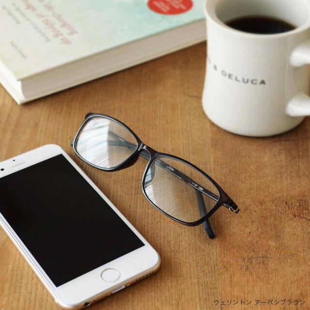 老眼鏡 女性 男性 おしゃれ 老眼鏡に見えない 35歳からのスマホ老眼鏡 ウェリントン リーディンググラス ブルーライトカット 軽量 スマホ眼鏡「アイウェアエア ウェリントン 4色」ウエリントン 黒 茶 母の日 ギフト