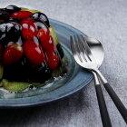 正規品 デザート フォーク・スプーン 4点 セット クチポール ミオ MIO ブラック シルバー ブラック/シルバー Cutipol カトラリー